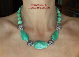 Серебряные украшения с натуральными камнями Легкость