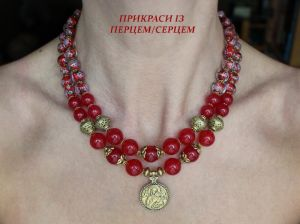 Серебряные украшения с натуральными камнями Мария