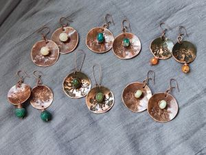 """Сережки ручної роботи Сережки, із серії  """"Сили природи"""""""