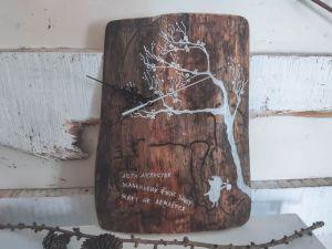 """Изделия из дерева ручной работы Часы """"Время Сакуры"""", в стиле хокку"""