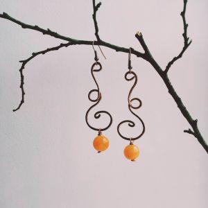 """Прикраси ручної роботи Сережки під назвою """"Танець вітру і осені"""""""