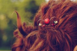 """Заколки ручної роботи Шпилька у волосся """"Коралова"""""""