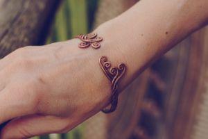"""Bracelets Мідний браслет """"Наче танцює вітер"""""""