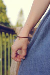 """Bracelets Браслет з міді """"Квадратик оніксу"""""""