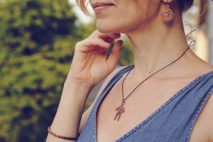 """Jewelry sets Мідний комплект """"Спіраль"""""""