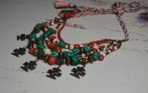 "Ожерелье из бисера Ожерелье-згарда ""Малахитовый сундук"""