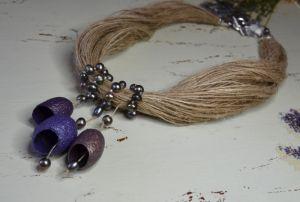 """Ожерелье из бисера Колье """"Черная жемчужина"""""""