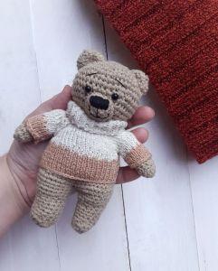 Куклы ручной работы Медвежонок амигуруми Жан Поль