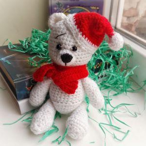 Куклы ручной работы Медвежонок Санта
