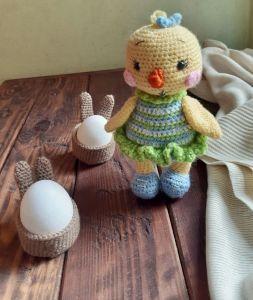 Куклы ручной работы Авторская игрушка Пасхальный Цыплёнок