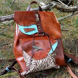 Рюкзак ручной работы Кожаный рюкзак «Butterfly»