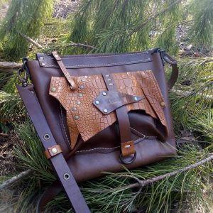 Жіночі сумки ручної роботи Шкіряна сумка «Woody»