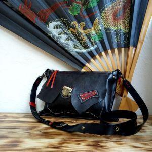 Женские сумки ручной работы Кожаная сумка «Geisha»