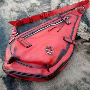 Рюкзак ручной работы Кожаный рюкзак слинг «Fire snail»
