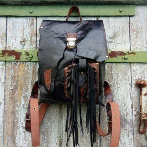 Рюкзак ручной работы Кожаный рюкзак «Melanist»