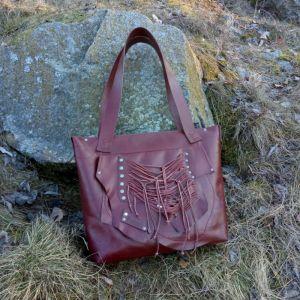 """Жіночі сумки ручної роботи Шкіряна сумка """"Burgundy"""""""