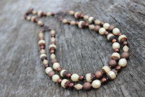 Ожерелье Бежевое