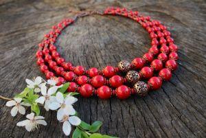 Ожерелье Красное