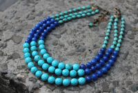 Ожерелье сине - бирюзовое