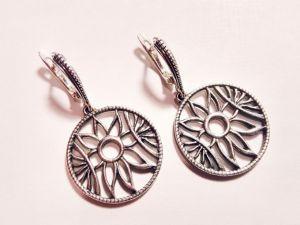 Серьги из серебра Серебряные серьги
