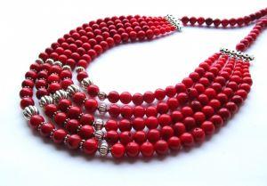 Ожерелье из коралла Бусы
