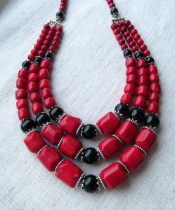"""Ожерелье из коралла Ожерелье """"Украинские традиции"""""""