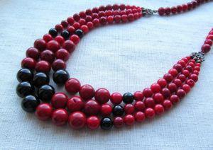 "Ожерелье из коралла Ожерелье ""Спелые ягоды"""