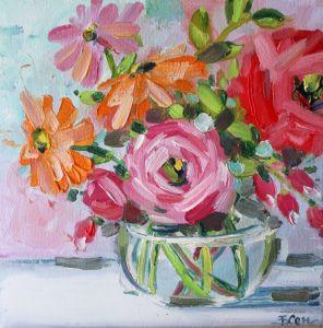 Картины маслом Картина маслом букет цветов в вазе