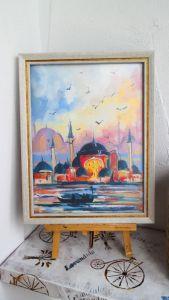 Нарисованные картины Картина масляная живопись Стамбул