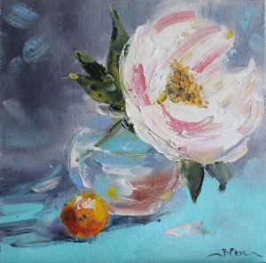 Картини маслом Картина олійний живопис піон букет квітів у вазі