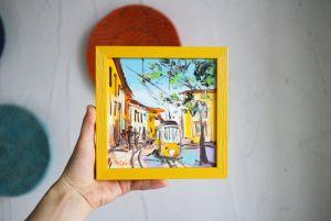 Нарисованные картины Картина масляная живопись Лиссабон Португалия