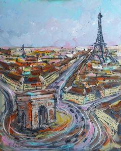 Нарисованные картины Картина маслом Париж Триумфальная арка