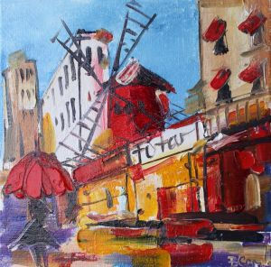 Картини маслом Картина Париж Мулен Руж