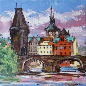 Картини маслом Картина олійний живопис Прага Чехія міст
