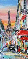 Картина маслом Париж