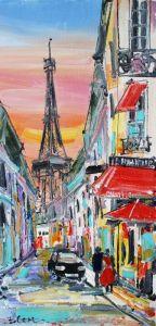 Нарисованные картины Картина маслом Париж