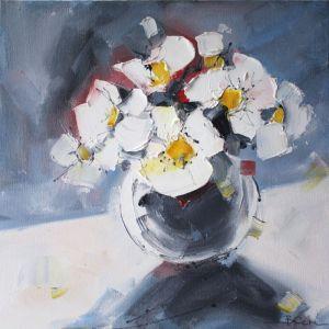 Картини маслом Картина олійний живопис букет квітів у вазі