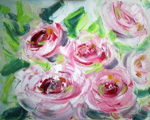 Картины маслом Картина розовые пионы