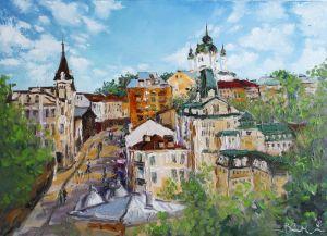Картини маслом Андріївський узвіз Київ