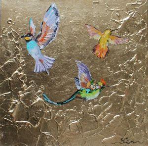 Картини маслом Райські птахи