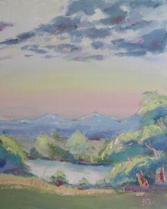 Суханова Виктория Рассвет над озером. Казатин