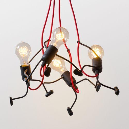 """Люстра """"Ironman family"""" на чотири лампочки"""