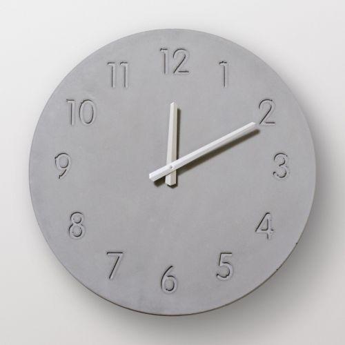"Часы из бетона настенный ""Манхэттен"""