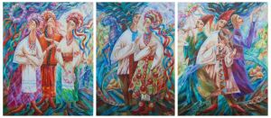 Силагина Марьяна Триптих Праздник в селе