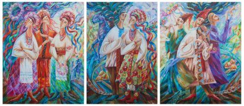 Триптих Праздник в селе