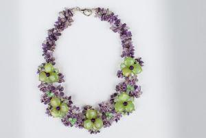 Ожерелье из кошачьего глаза Странные цветы