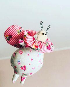 Куклы ручной работы Текстильная кукла Жук Тильда
