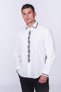 """Вышиванки ручной работы Мужская рубашка """"Лебедь"""""""