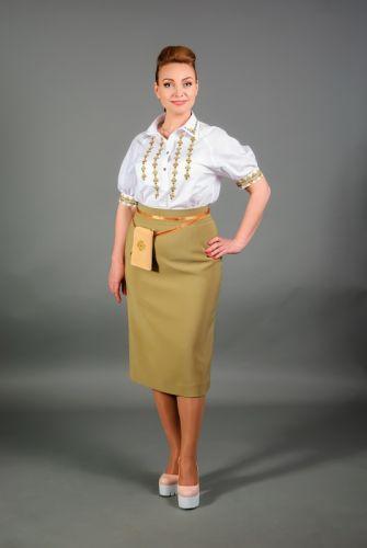 """Вышитая блуза """"Тимьяны"""""""