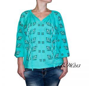 Мастерские Рубашка с вышивкой крестиком ВЖ213